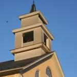 repaired steeple